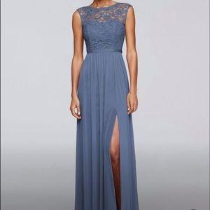 Steel Blue Bridesmaid/Prom/Homecoming Dress